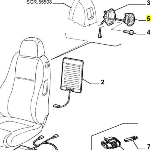 Alfa Romeo 147 3 Door & GT Offside / Right Seat Handle