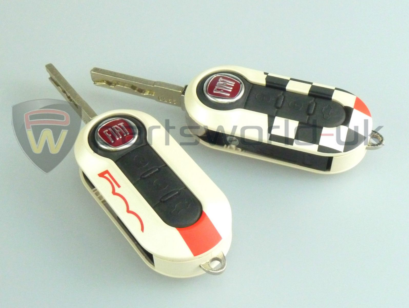 pair of brand new genuine fiat abarth sport key covers. Black Bedroom Furniture Sets. Home Design Ideas
