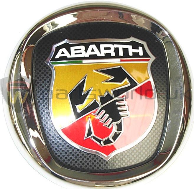 new genuine fiat abarth grande punto front grille logo badge emblem 735495891 ebay. Black Bedroom Furniture Sets. Home Design Ideas